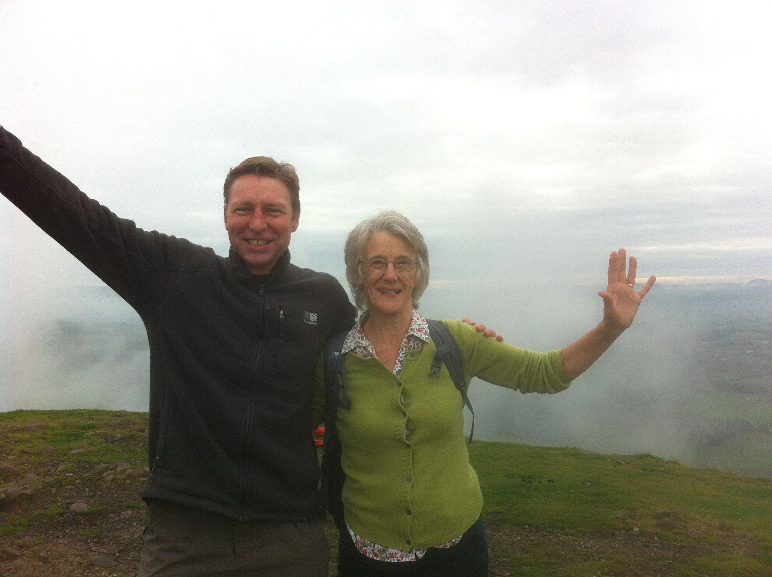 Climbing Conic Hill with Anne