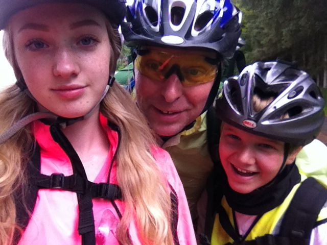 Cycling with Heather, James and I