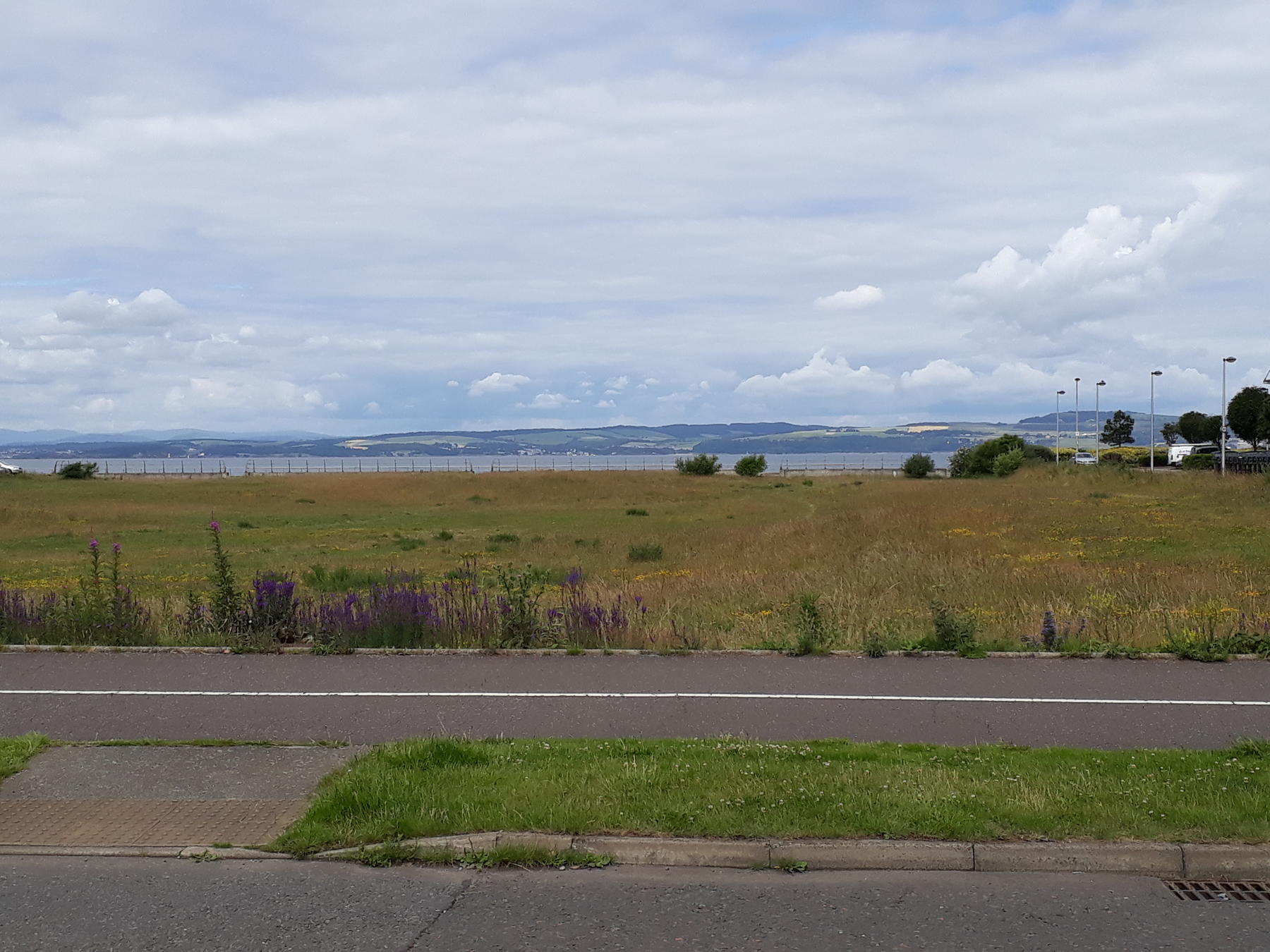 Looking Across The Firth Of Forth To Fife